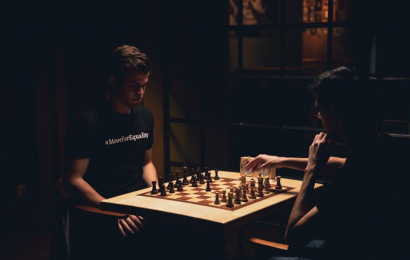 Magnus Carlsen and Anish Giri #MoveForEquality