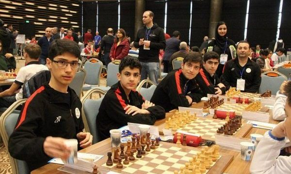 Iran at 2018 Chess Olympiad. Photo by Daaim Shabazz.