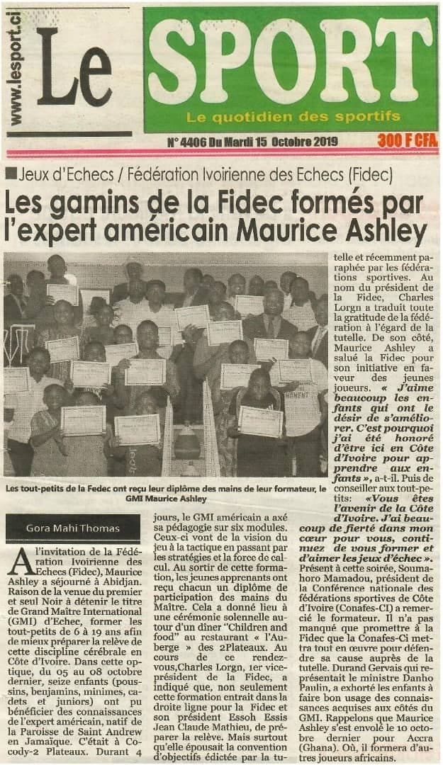 Le Sport (Ivory Coast) 15 October 2019