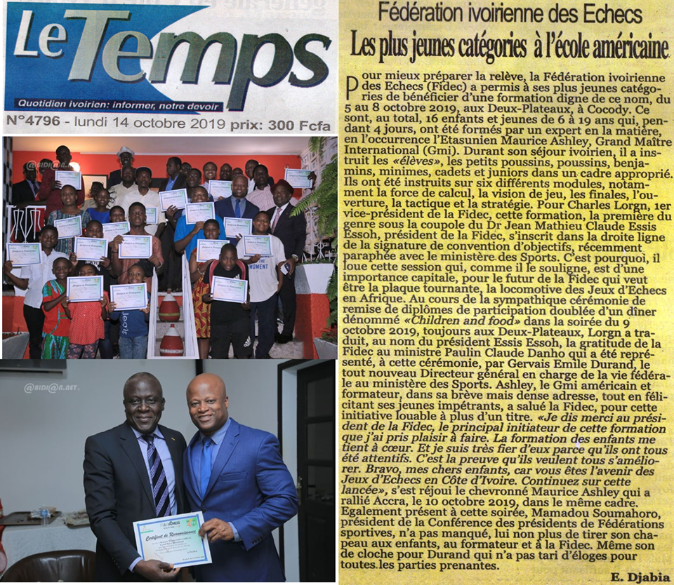 Le Temps (Ivory Coast) 14 October 2019
