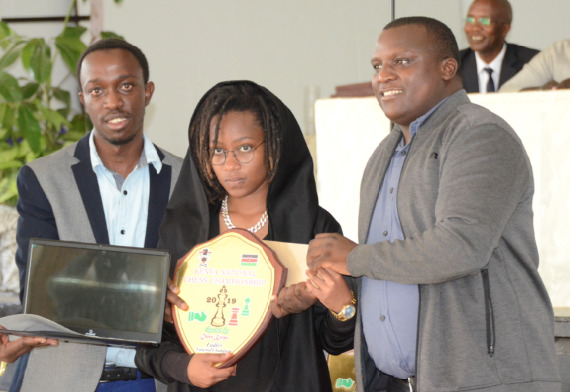Lucy Wanjiru got her title and a new laptop