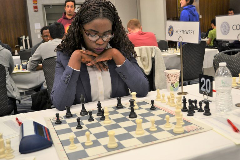 Phiona Mutesi at Pan-Am Intercollegiate Tournament. Photo by Al Lawrence