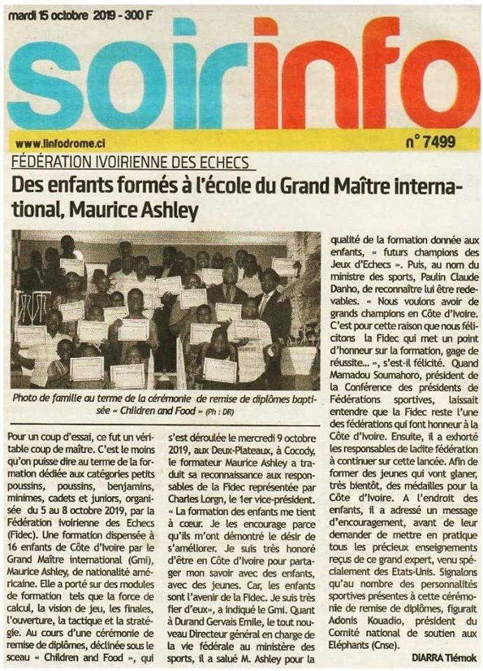 Soir Info (Ivory Coast) 15 October 2019