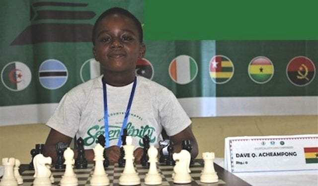Dave Chief Quansah Acheampong, Africa's under-9 champion