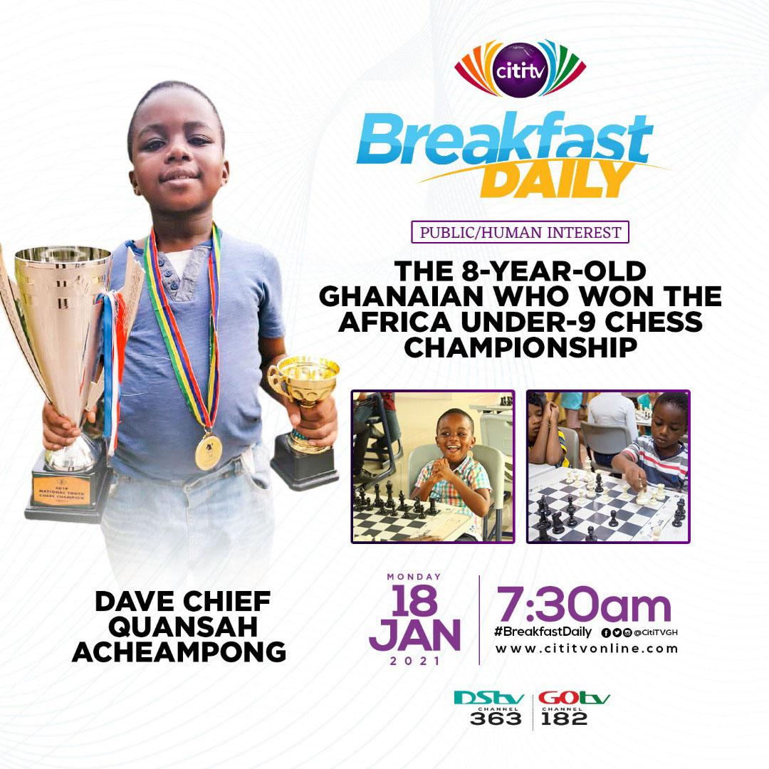 Dave Chief Quansah Acheampong, Africa's under-9 champion