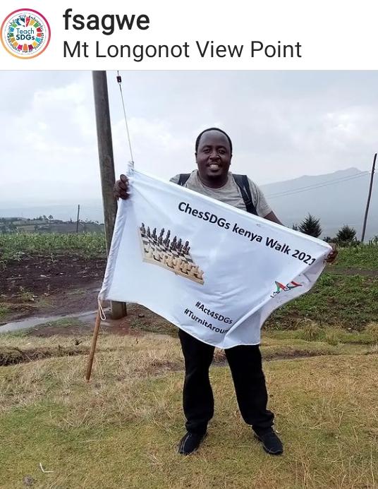 Fred Sagwe on trek to Naruku.
