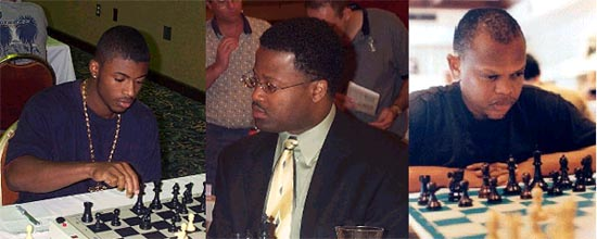 Ahmoad Ware (USA), GM Maurice Ashley (USA), IM Watu Kobese (South Africa)