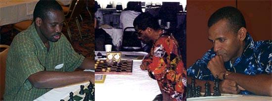 IM Oladapo Adu (Nigeria), NM Charles Covington (USA), FM Stephen Muhammad (USA)