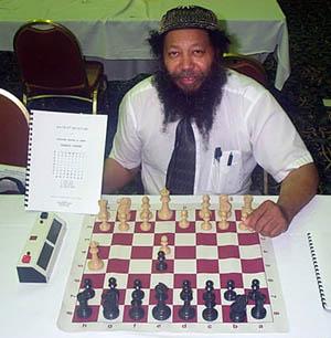 Bernard Parham with his signature 2.Qh5 move. Copyright © 2003, Daaim Shabazz