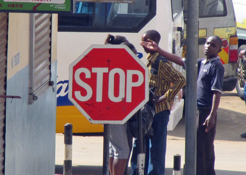 Stop!! Olympians crossing!!