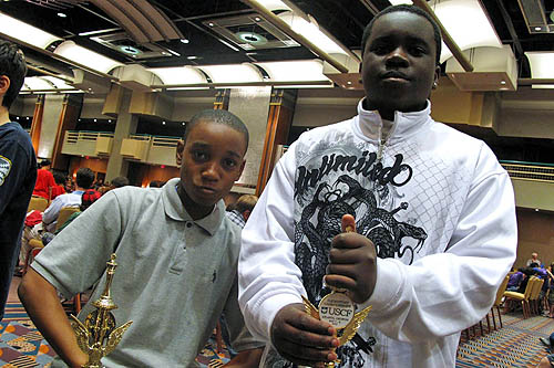 James Black, Jr. and Justus Williams (2010 National Elementary Champions, Blitz & Open) Photo by Elizabeth Vicary.