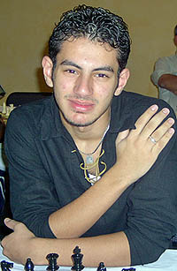 GM Ahmed Adly (2005 African Champion). Copyright © 2005, Zambian Chess Federation.
