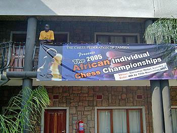 Beautiful Tournament Banner Copyright © 2005, Zambian Chess Federation.