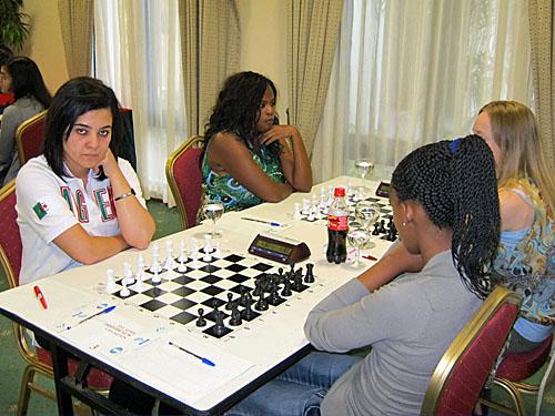 WIM Mezioud Amina (Algeria) vs WFM Tshepang Tlale (S. Africa); Vania Vilhete (Mozambique) vs. WIM Denise Frick (S. Africa)