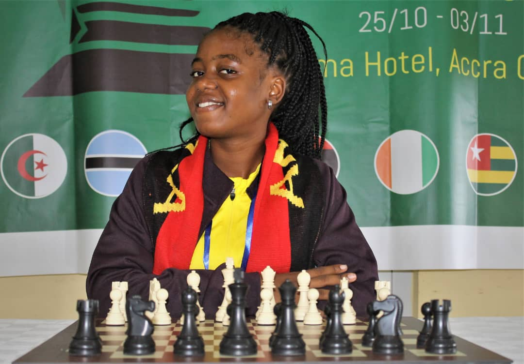 Angola's Luiza Pires on the verge of taking the crown back to Luanda. Photo by Babatune Ogunsiku