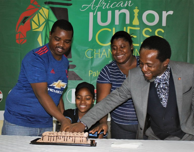 Botswana's Refilwe Gabatshwarwe celebrating her 14th birthday!