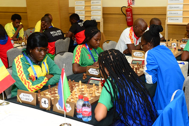 Mali vs. Namibia. Photo by Mohamed Bounaji/FIDE