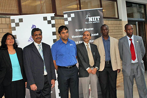 Anand arrives in Gaborone, Botswana. Photo by Booster Galesekegwe.