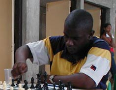 Jamel Richards - Barbados. Copyright © 2002, Barbados Chess Federation.