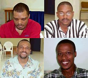 Clockwise: IM Kevin Denny, FM Delisle Warner, FM Dr. Philip Corbin and NM Terry Farley.