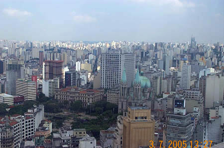 Aerial View from the BANESPA building (tallest in Sao Paulo). Copyright © 2005, Daaim Shabazz.