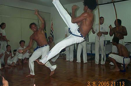 Amazing! Capoeira performance. Copyright © 2005, Daaim Shabazz.