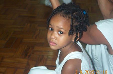 The cute little capoeirista. Copyright © 2005, Daaim Shabazz.