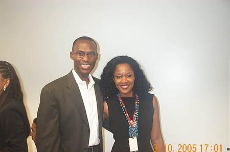 Daaim Shabazz with Conceição Lourenço, editor of Raça magazine. Copyright © 2005, Daaim Shabazz.