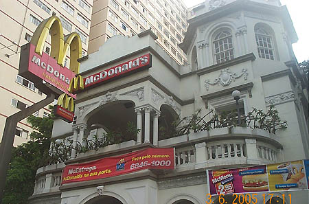 McDonald's in Sao Paulo. Copyright © 2005, Daaim Shabazz.