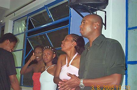Students preparing for samba demonstration - Universadade Zumbi dos Palmeres. Copyright © 2005, Daaim Shabazz.