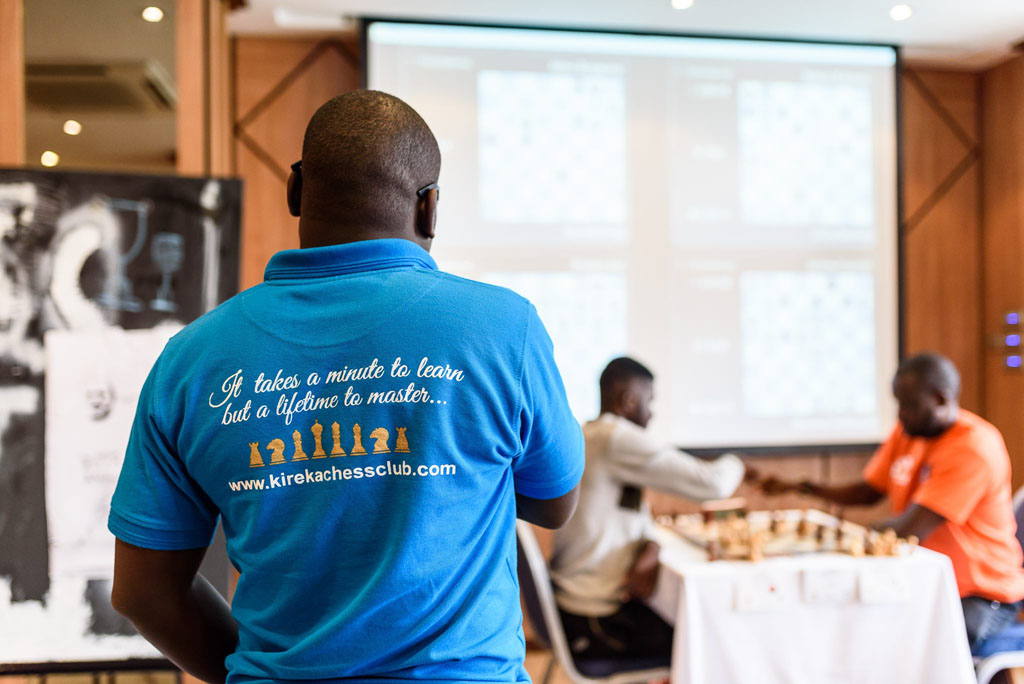 Arthur Ssegwanyi representing Kireka Chess Club