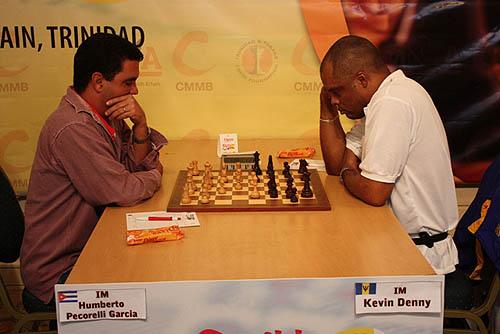 IM Humberto Pecorelli-Garcia (Cuba) vs. IM Kevin Denny (Barbados)