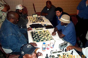 Classic Blitz Battle! NM Marvin Dandridge vs. IM Oladapo Adu. Copyright © 2004, Daaim Shabazz