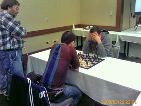 Varuzhan Akobian and Tigran Petrosian in blitz playoff.