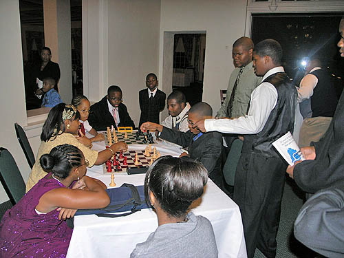 DCCC members playing bughouse.