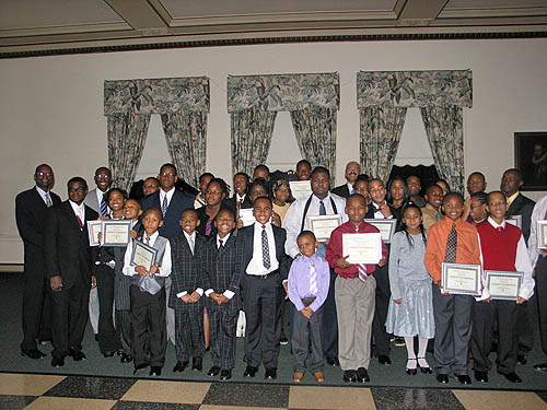 Members of the Detroit City Chess Club.