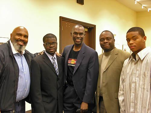 (L-R) Kevin Fite, NM Kayin Barclay, Dr. Daaim Shabazz, Sherman Redden, Sr., Kayeen Kemp