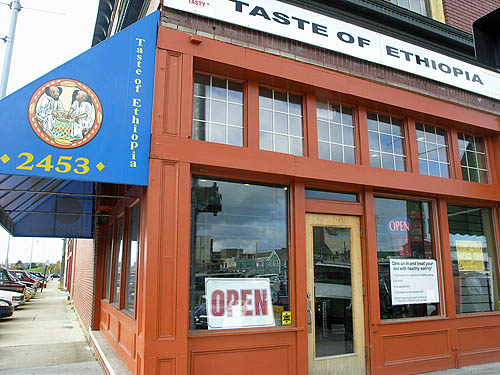 Taste of Ethiopia, 2453 Russell Street, Detroit, Michigan 48207, (248) 905-5560... Photo by Daaim Shabazz.
