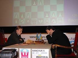 GM Ruslan Ponomariov (UKR) vs. GM Vassily Ivanchuk (UKR)