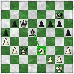 After Adams played 33…Qc6? there was a question whether the relayed move was correct because 34.Nxd5! appears to draw… 34.Qd3? was played instead.