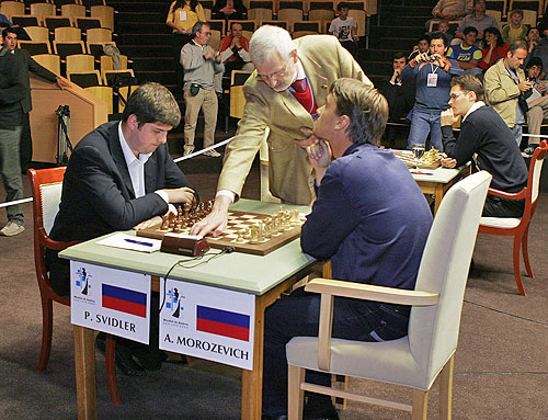 Svidler and Morozevich set to face off. (Photo courtesy of WCC official site)