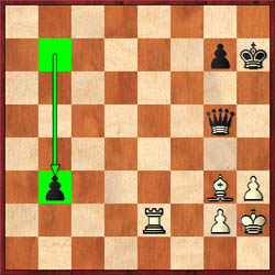 Adams had to sacrifice the exchange and set up a way to stop the pawn which was sprinting up the board.