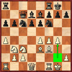 In Kasimjanov-Polgar, white plays 13.g4 and black already has problems.