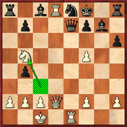 After 20…axb5 21.Re1 b4, Polgar played 22.Nb5? instead of 22.Rxe8+!Commentators seem to believe 22…Be5! holds. Kasimjanov played 22…Bxb2+ and went down swiftly.