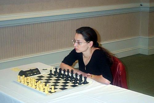 IM Alexandra Kosteniuk of Russia. Copyright © Daaim Shabazz, 2003.