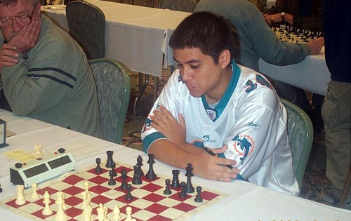 17-year old FM Daniel Fernandez (made 18 years on May 9th and will attend University of Texas-Dallas). Copyright © Daaim Shabazz, 2003.