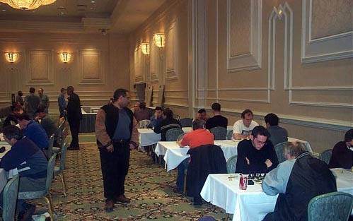 Round One Action at 2003 Foxwoods Open. Copyright © Daaim Shabazz, 2003.