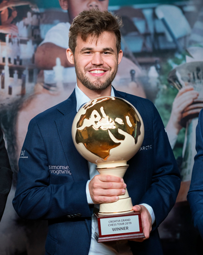 Magnus Carlsen, winner of Grand Chess Tour - Croatia