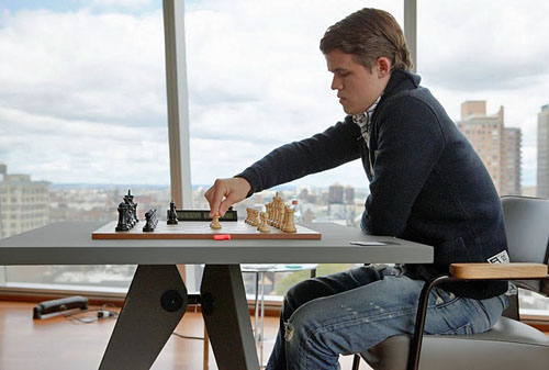 Magnus Carlsen on the move.