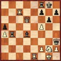 Muhammad cracks the whip with 32…Bxf2+!